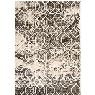 Floria Ivory/Black Area Rug Rug Size: Rectangle 910 x 13
