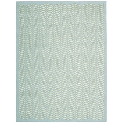 Rensselear Aqua Area Rug Rug Size: Rectangle 56 x 76