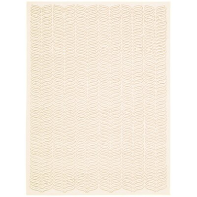 Rensselear Ivory Area Rug Rug Size: 56 x 76