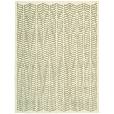 Rensselear Light Green Area Rug Rug Size: 56 x 76