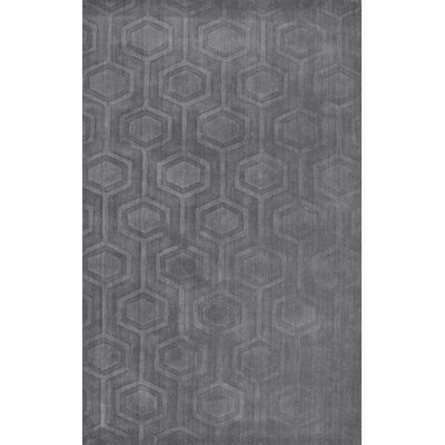 Schuykill Hand-Woven Gray Area Rug Rug Size: Rectangle 86 x 116