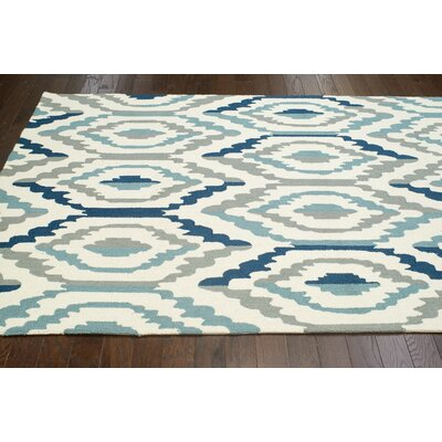 Seleucia Hand-Hooked Blue/Gray Area Rug Rug Size: Rectangle 76 x 96