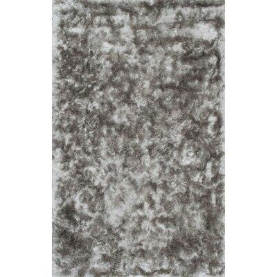 Sisyphus Hand-Woven Silver Area Rug Rug Size: 76 x 96