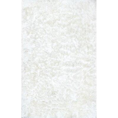 Sisyphus Hand-Woven White Area Rug Rug Size: 76 x 96