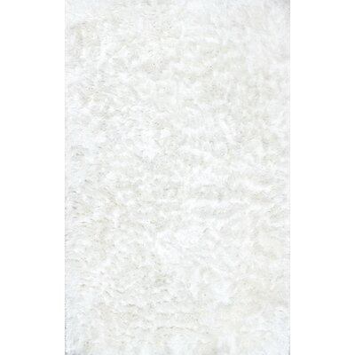 Sisyphus Hand-Woven White Area Rug Rug Size: 86 x 116