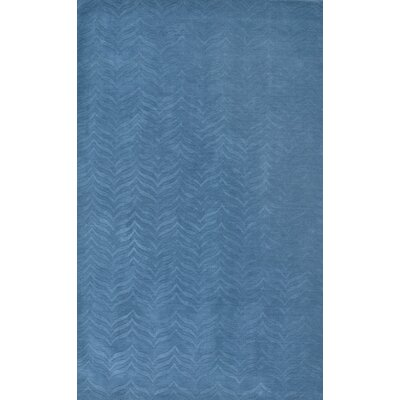 Lipford Hand-Woven Blue Area Rug Rug Size: Rectangle 5 x 8
