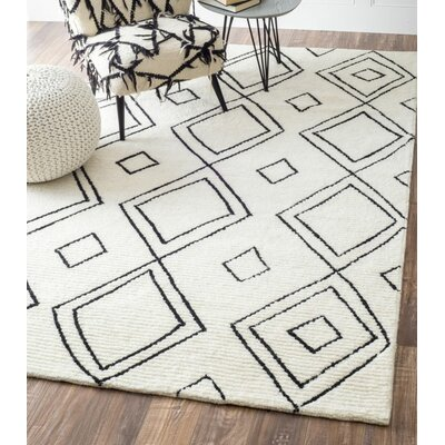 Musselman Hand-Tufted Natural Area Rug Rug Size: Rectangle 76 x 96