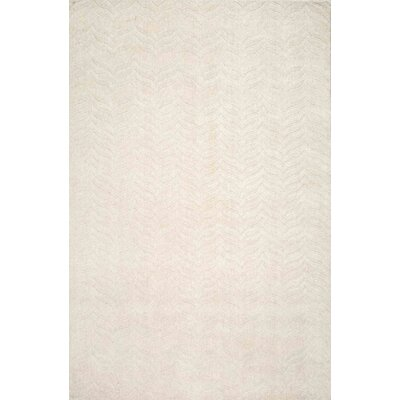 Myron Hand-Woven Ivory Area Rug Rug Size: Rectangle 76 x 96