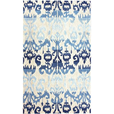 Oliveri Blue Ikat Area Rug Rug Size: Rectangle 9 x 12