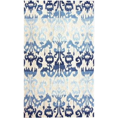 Oliveri Blue Ikat Area Rug Rug Size: 9 x 12