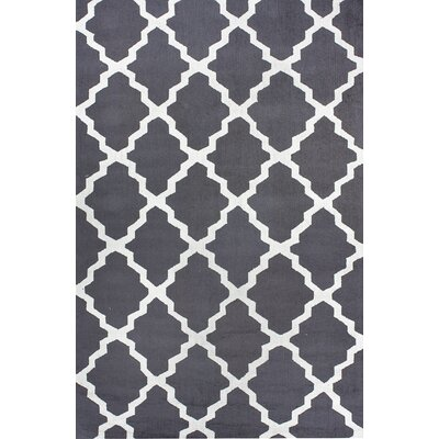 Oneil Charcoal Area Rug Rug Size: 5 x 8