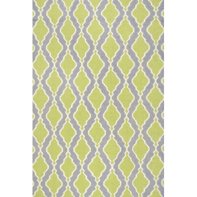 Oneil Flatwoven Green Area Rug