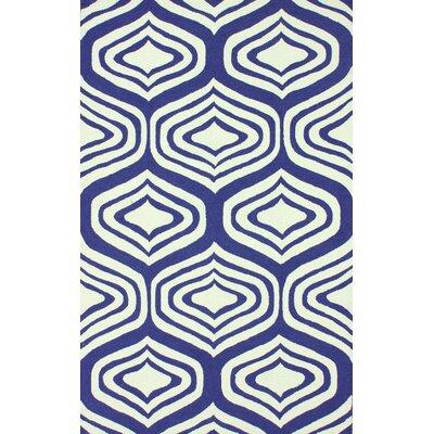 Oneil Navy Sandra Area Rug Rug Size: 76 x 96