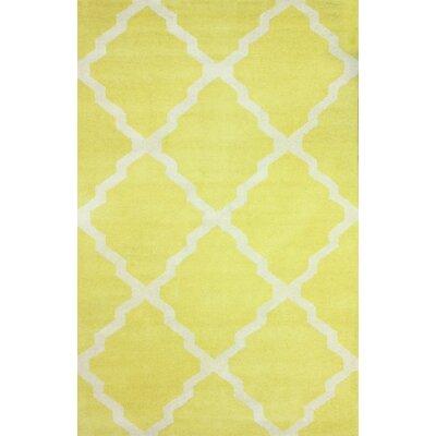 Orner Yellow Mason Rug Rug Size: 76 x 96