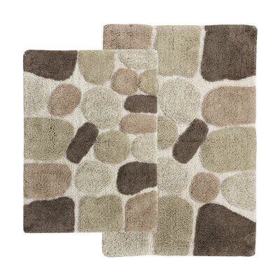 Gallager 2 Piece Contemporary Bath Rug Set Color: Khaki