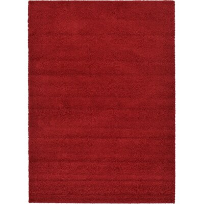 Nicolaus Red Area Rug Rug Size: 8 x 114