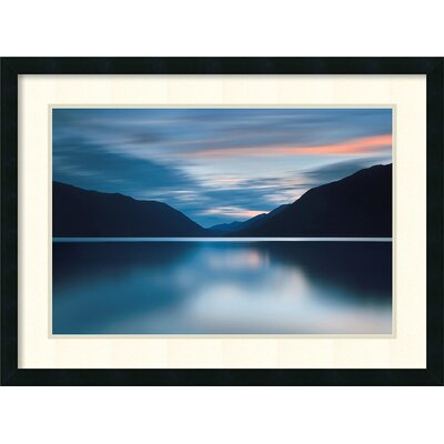 Brayden Studio Lake Crescent Dusk Framed Photographic Print