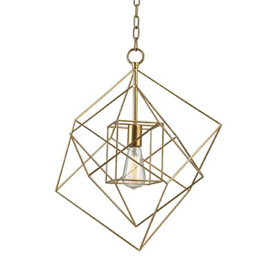 Sagitta 1-Light Mini Pendant Size: 22 H x 18 W x 18 D