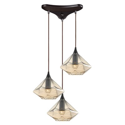 St. Nicholas 3-Light Cascade Pendant Finish: Oil Rubbed Bronze