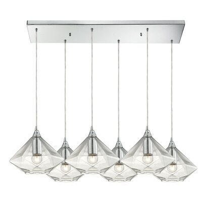 Stanton Drew 6-Light Kitchen Island Pendant Finish: Polished Chrome
