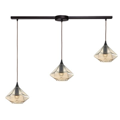 Loiselle 3-Light Kitchen Island Pendant Finish: Oil Rubbed Bronze