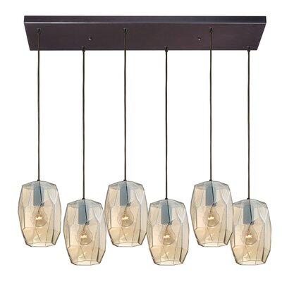 Lott 6-Light Kitchen Island Pendant Finish: Oil Rubbed Bronze