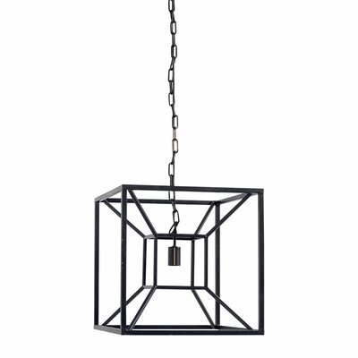 Navarra 1-Light Drum Pendant Finish: Black