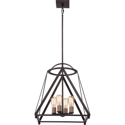 Ogara 4-Light Foyer Pendant Finish: Western Bronze