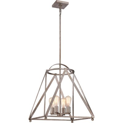 Ogara 4-Light Foyer Pendant Finish: Vintage Gold