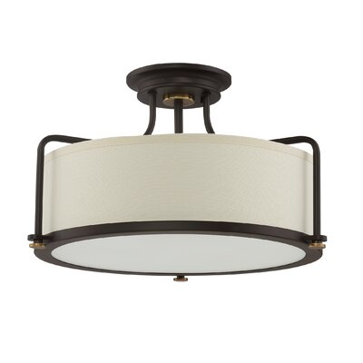 Oyola 3-Light Semi Flush Mount