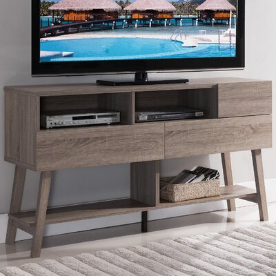 Rabinowitz 60 TV Stand Color: Light Oak