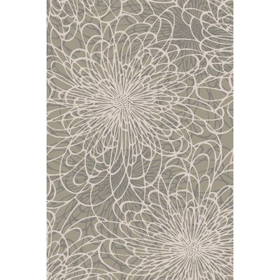 Oconnell Hand-Knotted Light Gray Area Rug Rug size: 6 x 9