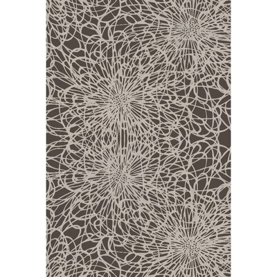 Oconnell Hand-Knotted Black/Ivory Area Rug Rug size: 6 x 9