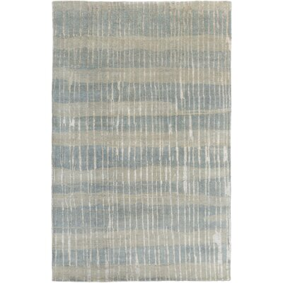 Sepviva Hand-Knotted Teal/Tan Area Rug Rug size: Rectangle 9 x 13