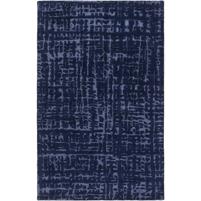 Corinna Hand-Tufted Violet/Dark Blue Area Rug Rug size: Rectangle 33 x 53