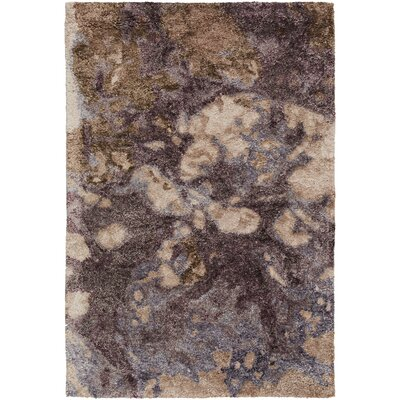 Scylla Hand-Tufted Dark Purple Area Rug Rug Size: 33 x 53