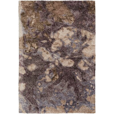 Scylla Hand-Tufted Dark Purple Area Rug Rug Size: 5 x 8