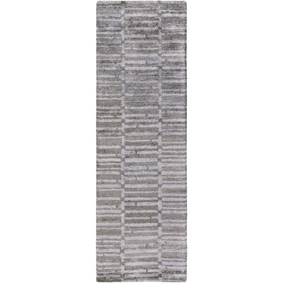 Scylla Hand-Tufted Charcoal/Medium Gray Area Rug Rug size: Runner 26 x 8