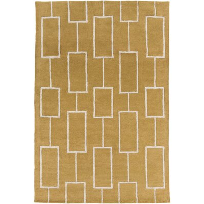 Aldred Hand-Tufted Tan/Khaki Area Rug Rug size: 33 x 53