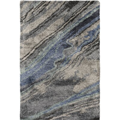 Scylla Hand Tufted Gray/Black Area Rug