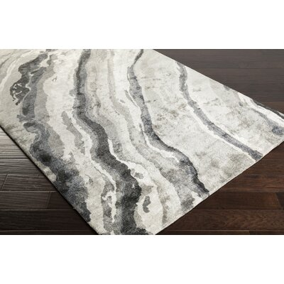 Scylla Hand-Tufted Gray Area Rug Rug Size: Rectangle 36 x 56