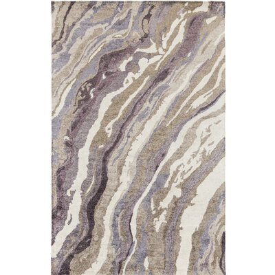 Scylla Hand-Tufted Gray/Purple Area Rug Rug Size: 5 x 8