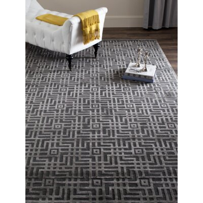 Somnus Hand-Knotted Charcoal Area Rug Rug Size: Rectangle 14 x 10