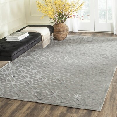 Sophocles Hand-Knotted Slate Area Rug Rug Size: 6 x 9