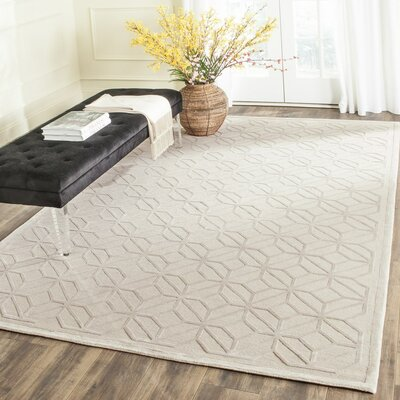 Valenzuela Hand-Knotted Beige/Gray Area Rug Rug Size: Rectangle 9 x 12