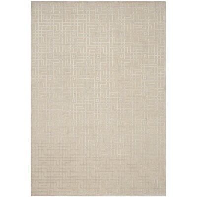 Sotion Hand-Knotted Beige Area Rug Rug Size: Rectangle 8 x 10
