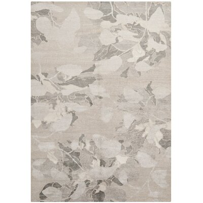 St James Hand-Knotted Silver Area Rug Rug Size: Rectangle 6 x 9