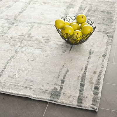Stave Hand-Knotted Gray Area Rug Rug Size: Rectangle 10 x 14