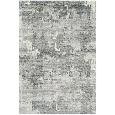 Steinway Hand-Knotted Charcoal Area Rug Rug Size: Rectangle 8 x 10