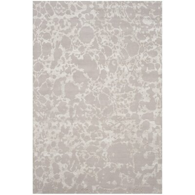 Stockwood Hand-Knotted Silver Area Rug Rug Size: 6 x 9